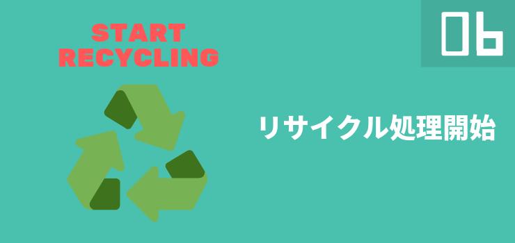 リサイクル処理開始