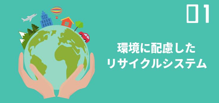 環境に配慮したリサイクルシステム