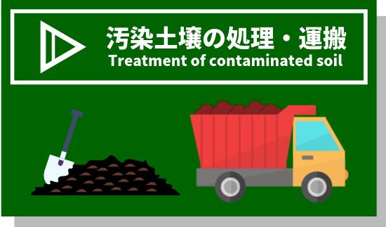 汚染土壌の処理・運搬