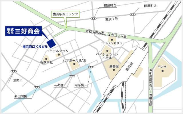 三好商会本社の地図