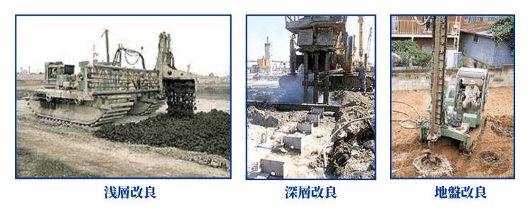 セメント事業の施工事例(浅層改良・深層改良・地盤改良)